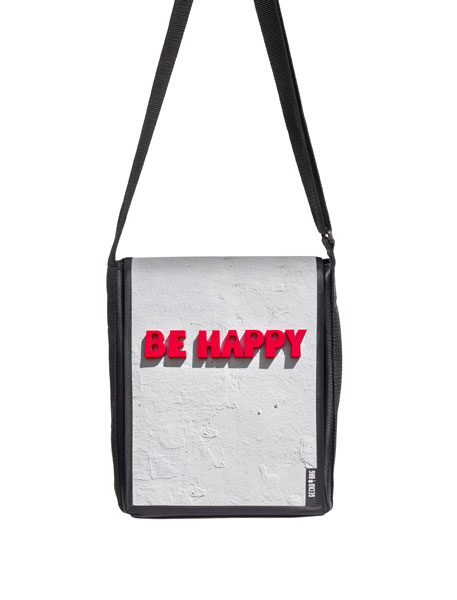 Messengerbag - 2011 be happy (Größe hoch)
