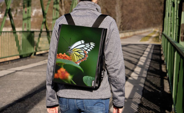 Rucksack mit Wechselcover - 2016 Schmetterling