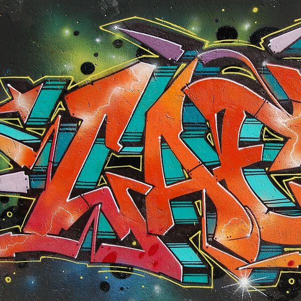 "Lasche 2025 ""Grafiti rot"""