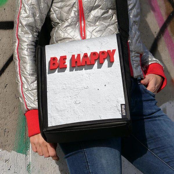 "Umhängetasche ""be Happy"""